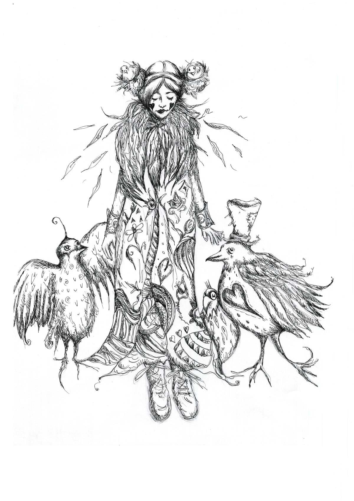 Birds Nest Hair – Black and White